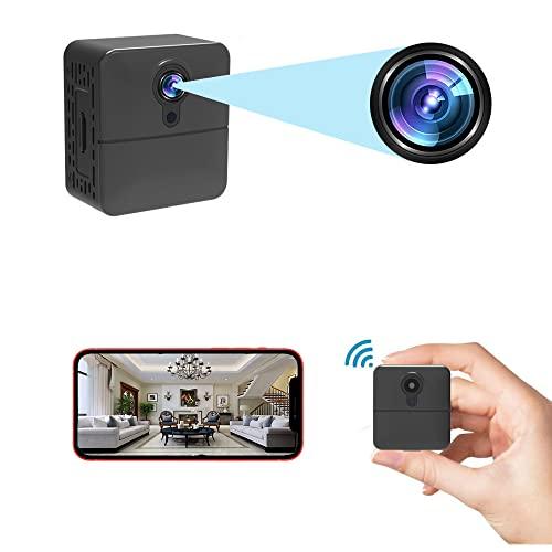 Cámara de vigilancia PNZEO W6 Mini WiFi Cámaras Real Full HD Grabación de Seguridad Hogar Grabadora Portátil Multiuso Cámara