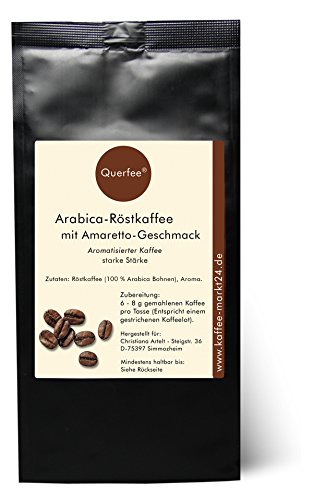 Kaffee mit Geschmack - Amaretto - Arabica Röstkaffee mit Amaretto Geschmack (ohne Alkohol) - gemahlen (250g gemahlen)