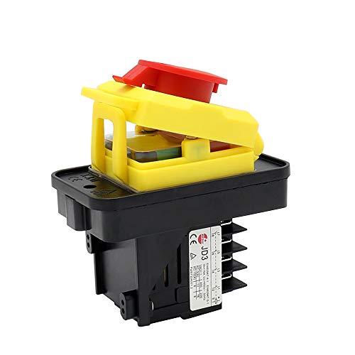 KEDU KJD11 10-polig Wasserdichte Elektromagnetische Schalter JD3 Relais EIN-AUS Druckknopfschalter mit Unterspannungsschutz Funktion für Werkzeugmaschine 400V 12A