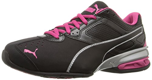 PUMA Damen Tazon 6 WN's FM, Black Silver Beetroot Purple, 42 EU
