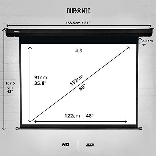 Duronic EPS60 /43 Pantalla de Proyección 60