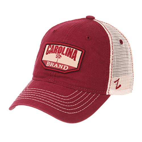 NCAA Zephyr South Carolina Fighting Gamecocks mens Trademark Relaxed Hat, Adjustable, Washed Team/White