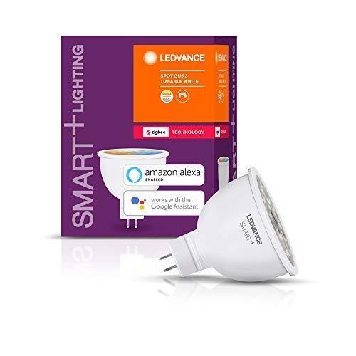 LEDVANCE Smart+ LED, ZigBee GU5.3 Reflektor, 12V, warmweiß bis tageslicht (2700K - 6500K), dimmbar, Direkt kompatibel mit Echo Plus und Echo Show (2. Gen.), Kompatibel mit Philips Hue Bridge