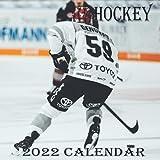 "HOCKEY Calendar 2022: HOCKEY calendar 2022 ""8.5x8.5"" Inch 16 Months JAN 2022 TO APR 2023 finished and Glossy"