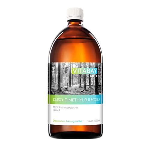 Vitabay DMSO 1000 ml • 99,9 % pharmazeutische Reinheit • Abgefüllt in lichtgeschützter Braunglasflasche