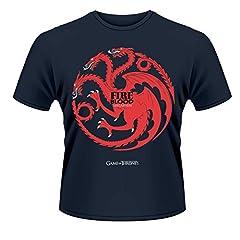 Playlogic International(World) Game of Thrones Fire and Blood Camiseta Manga Corta para Hombre