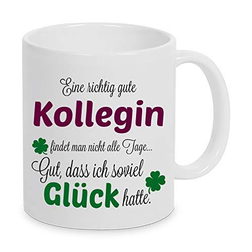 Eine richtig gute Kollegin - Danke sagen auf eine besondere Art. Tasse mit Spruch Kaffee Becher Geschenk Firma Job Arbeit Beste Kollegin