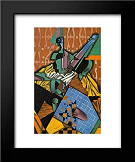 Photograph of Violin and Checkerboard 15x18 Framed Art Print by Juan Gris