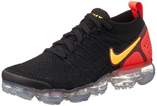 Nike Men's Air Vapormax 2 Flyknit Black/Total Crimson/Hot Punch/Laser Orange 942842-005 (Size: 11.5)
