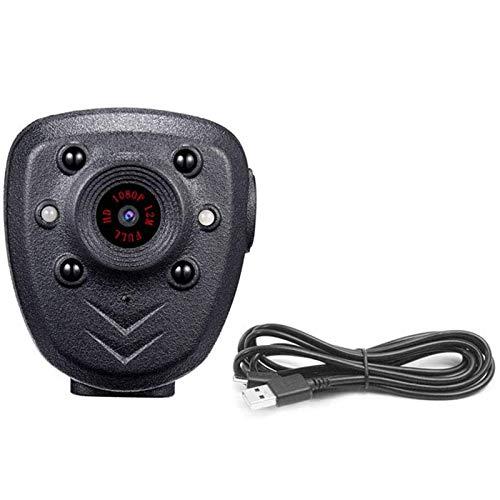 Fransande Body Camera Hd1080P - Grabador de vídeo con tarjeta de memoria integrada de 32 GB, cámara de policía con visión nocturna, clip de bolsillo para la casa, el coche