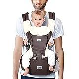 SIMBR Portabebé Ergonómico con Asiento para Bebés de 3 a 36 Meses Portador de Bebé con 12 Usos Multifuncionales en 1, Carga de 3.5 a 20 kg, Transpirable y Ligero, Puro Algotón 100%