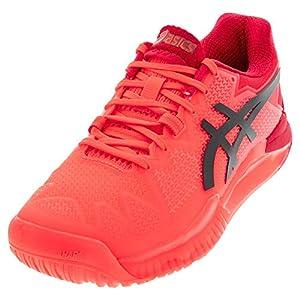 ASICS Men's Gel-Resolution 8 Tokyo Tennis Shoes, 12, Sunrise RED/Eclipse Black