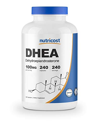 Nutricost DHEA 100mg, 240 Capsules - Gluten Free, Soy Free, Non-GMO, Supplement