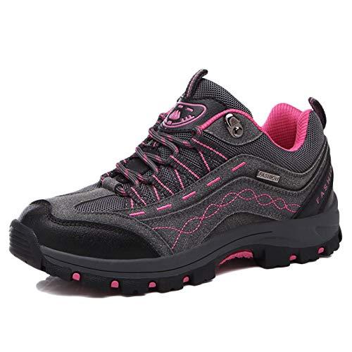 Koyike Hombres Zapatos de Trekking,Ligero Mujeres Botas de Montaña,Antideslizante Botas para Caminar Unisexo,para Deportes de Viaje de Escalada,A-40