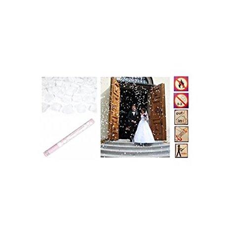 les colis noirs lcn Lot 2 Canon à CONFETTIS Pétales de Rose Blanc Mariage 58cm - 5/8m - 271
