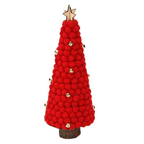 Haptian wollen bol Mini Christmas Tree voor tabletop Traditionele kerstdecoraties