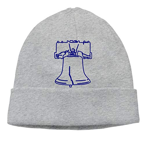 Liberty Bell American Adult Hedging Cap Silhouette Beanie Hat Soft Winter and Activewear Watch Cap Black