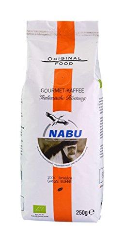 NABU Kaffee - Gourmet Kaffee Italienische Röstung ganze Bohne, 250 g
