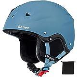 Gonex MS-86 Casco de esquí de Invierno, ABS con dial Ajustable, Certificado CE para Hombres y Mujeres, Bolsa de Almacenamiento, Color Azul, tamaño Large