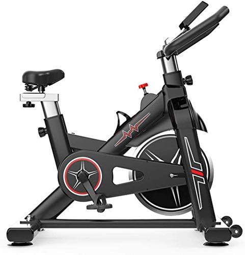 YLJYJ Bicicleta estática, Equipo Deportivo de Ciclismo en Interiores para el hogar, Pantalla LCD, Diferentes Niveles de Resistencia, Capacidad de 330 Libras, Apto para Todos