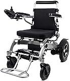Silla de ruedas eléctrica Exclusiva, ligera, plegable, eléctrica, aeroespacial Diseño de aluminio, resistente, de largo alcance, doble motor potente, silla de ruedas eléctrica, viajes cómodos y seguro