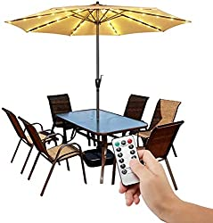 top rated Fairy wireless light 8 brightness LED of terrace umbrella with remote control … 2021