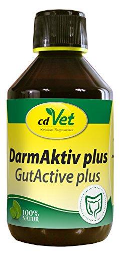cdVet Naturprodukte DarmAktiv plus 250 ml - Hund, Katze - Ergänzungsfuttermittel - Stärkung des Immunsytsems - Unterstützung der Darmflora - Bekämpfung von Krankheitserregern - Gesundheit -