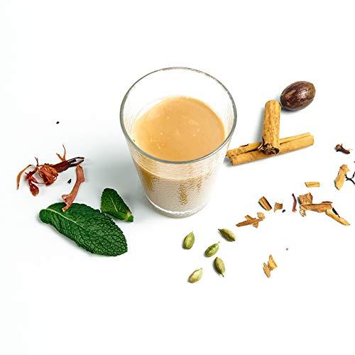 Indischer Tee - Masala Chai – Chai Latte | Preis-Leistungs-Sieger 2020 | 80 Tassen | 100% Natürliche Gewürze: Kardamom, Nelken, Zimt, Schwarz Tee und schwarzem Pfeffer