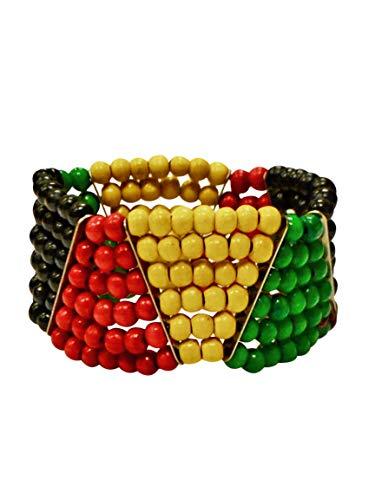 Jamaican Bracelet Multicolor Beaded For Women And Girls