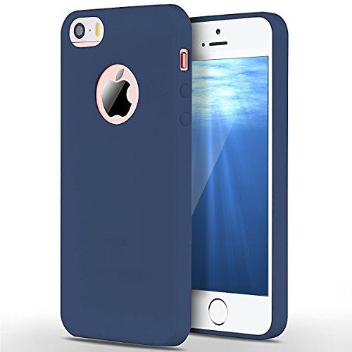 SpiritSun Custodia Apple iPhone 5 iPhone 5s iPhone iPhone 5 TPU Silicone Custodia Slim Bumper per iPhone 5 iPhone 5s iPhone SE Case Protezione Case Copertura Cover - Blu Marino