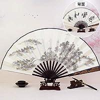 ポータブルeventail折りたたみ手の日本の主なヴィンテージの結婚式の好意の贈り物を折る中国風のファン学生10インチventagli (Color : HUIFENG)