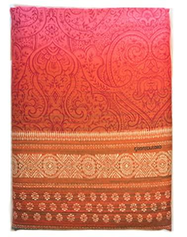 BASSETTI Juego de funda nórdica para cama de matrimonio, línea Granfoulard, Nabucco, fabricado en Italia, extra fino Sateen (rojo)