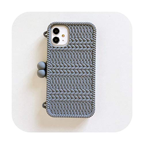 Funda de silicona suave para iPhone 12 Mini 6 6s 7 8 Plus 11 Pro X XR XS Max Teléfono Case Gray-para iPhone X o XS