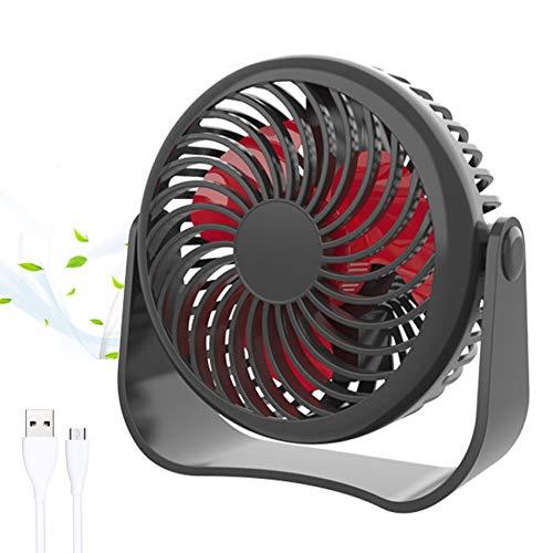 GeekerChip USB Ventilatore da Scrivania,Mini USB Ventilatore con 3 Velocità e Rotazione 360°,Ventilatore Portatile USB,per Casa Ufficio Auto Outdoor e Viaggi(Nero)