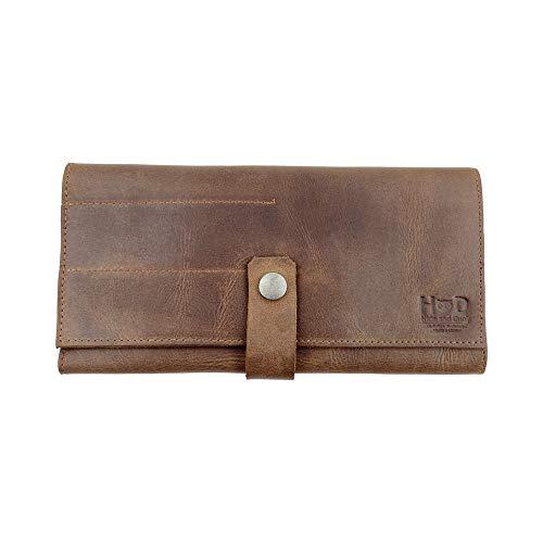 Hide & Drink, bolsa de cuero para tijeras/tijeras de peluquería/bolsa de peluquería/peine y tijeras/bolsa para estilista, hecha a mano: marrón bourbon