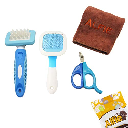 Alfie Pet - 3-Piece Pet Home Grooming Kit with Microfiber Fast-Dry Washcloth for Rabbit, Chinachilla and Guinea Pig