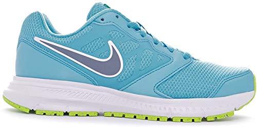 Nike WMNS Downshifter 6 MSL Laufschuhe, Blau/Weiß/Grün/Schwarz, 37,5