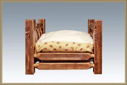 Montana Woodworks Homestead Collection - Cama grande para mascotas con colchón de 76 x 40 pulgadas
