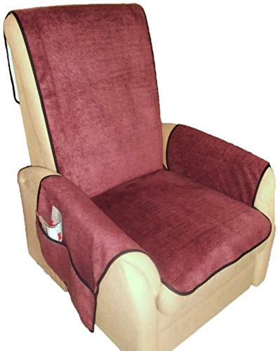 Holzdrehteile Sesselschoner Sesselauflage Sesselbezug Schoner Überwurf Auflage Lederoptik Beere