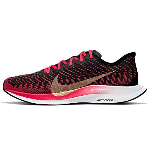 Nike Women's Zoom Pegasus Turbo 2 Running Shoes (Red/Gold, Numeric_11)
