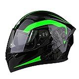 BUETR Off-road moto exterior casco eléctrico equitación casco deportivo ciclismo casco protector-verde power_L