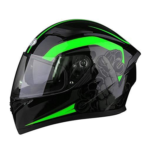 Off-road outdoor motorfiets elektrische helm rijden sporthelm beschermende fietshelm-Groene power_XL