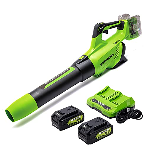 Greenworks BL48L4410 Axial Leaf Blower, Brushless, Green