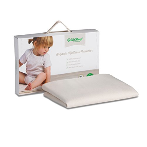 The Little Green Sheep Waterproof Mattress Protector 83 x 50cm (to fit Next to Me Bedside Crib)