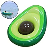 Fansport 2PCS Avocado Shape Inflatable Water Float Swim Ring Pool Float Set for Adults
