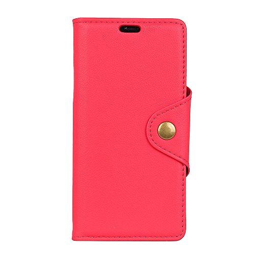 Coque Funda Xiaomi Redmi S2,Flip con Ranura para Tarjeta de Funda para Xiaomi Redmi S2-Rojo