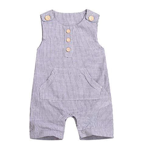Knowin-baby body Sommer Kurzärmeliger Overall für Kinder mit Klassischer Stil Niemals veraltet Strampler Babys Liebling Gestreiften Säuglingsspielanzug Overall Outfits Kleidung