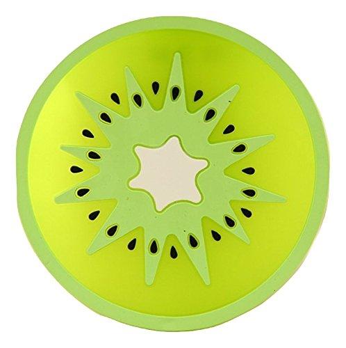 Plus Nao(プラスナオ) コースター シリコンコースター フルーツデザイン かわいい サークル 円形 キッチン 雑貨 カフェ プレゼント ギフト - キウイ