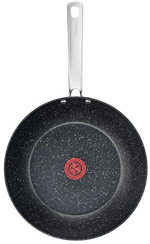 Tefal C6451942 Titanium Excel Wok Pan, efecto piedra negra, 28 cm