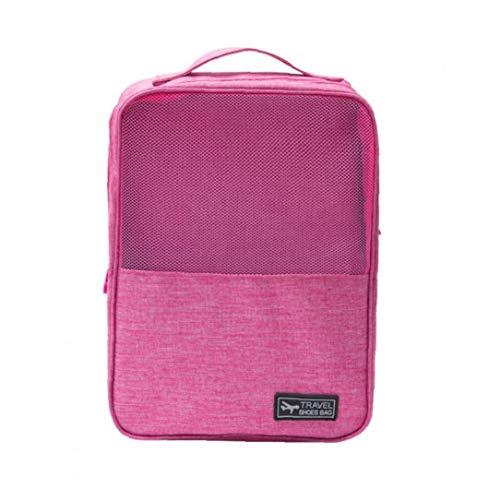 MICHAELA BLAKE Reisen Schuhe Tasche Oxford Gewebe Ineinander Greifen-organisator Für Hausschuhe Doppel Layered Aufbewahrungstasche Mit Reißverschluss Rose Red